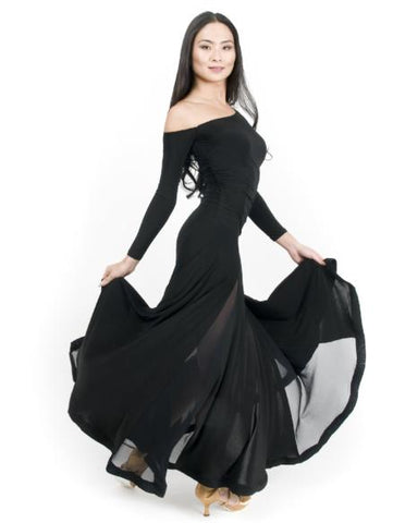 Maya Gown - Steel with Mesh Panels