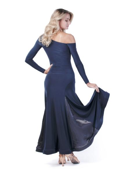 Maya Gown - Steel with Satin Panels