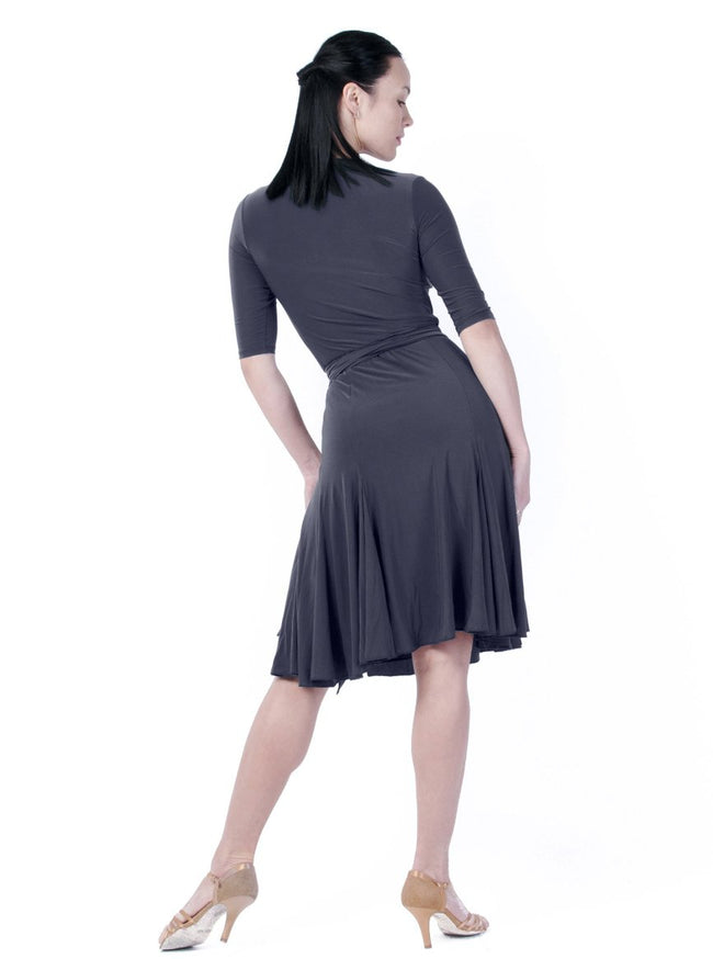Klaudia Wrap Dress - Steel