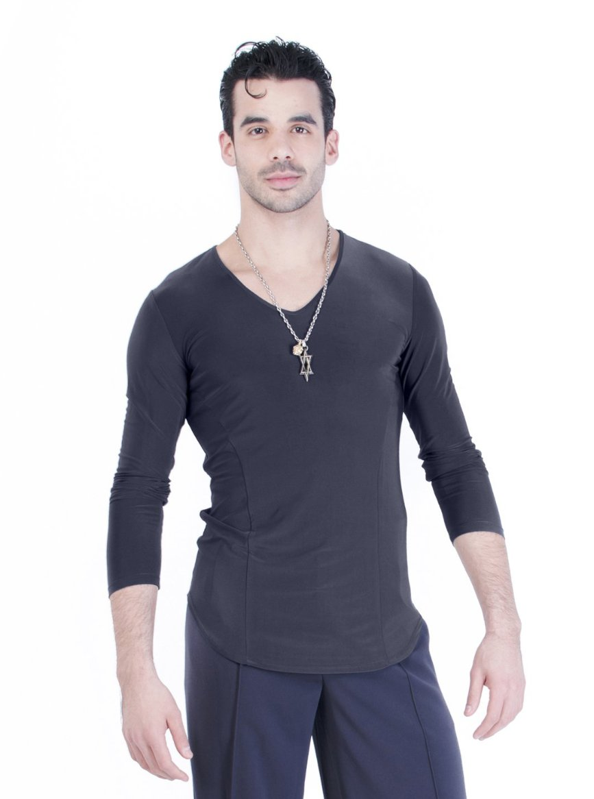 Jay V-Neck Shirt - Steel