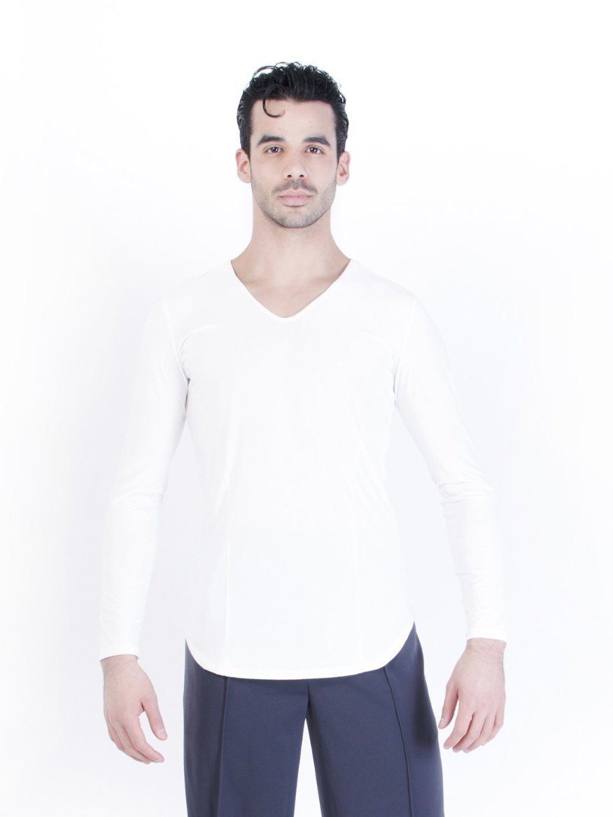Jay V-Neck Shirt - Ivory