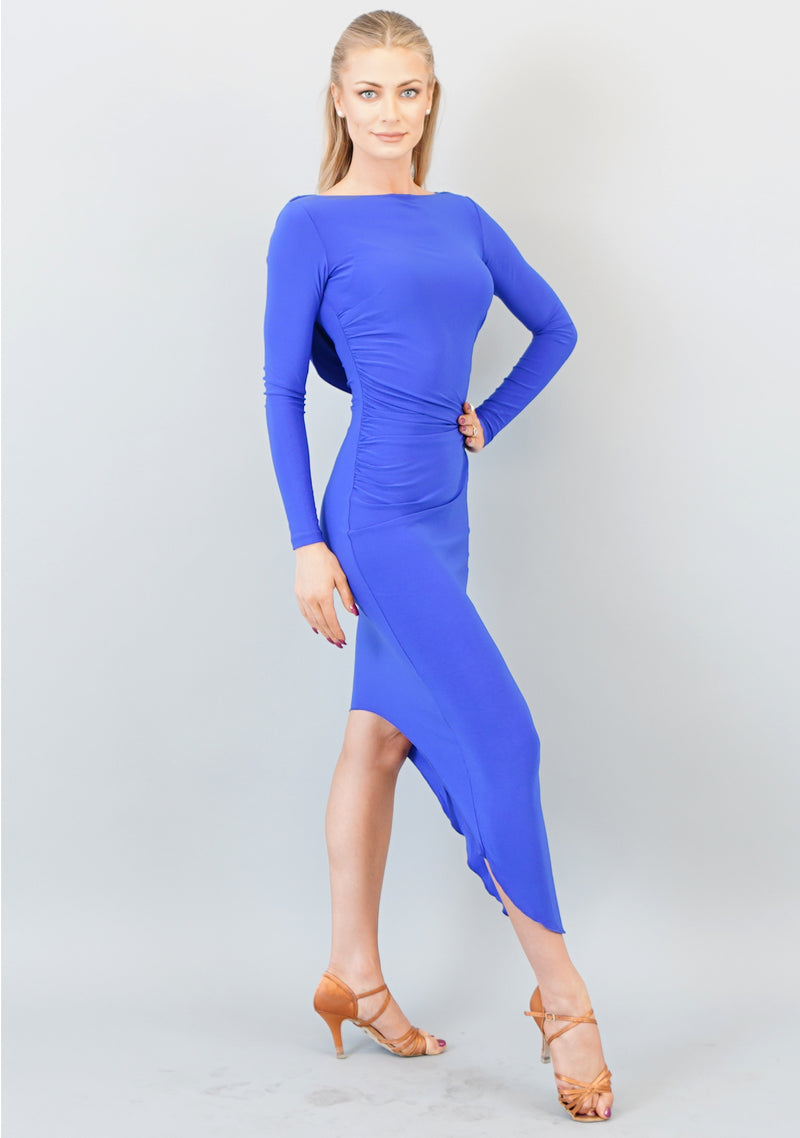 Alessandra Draped Dress- Cobalt