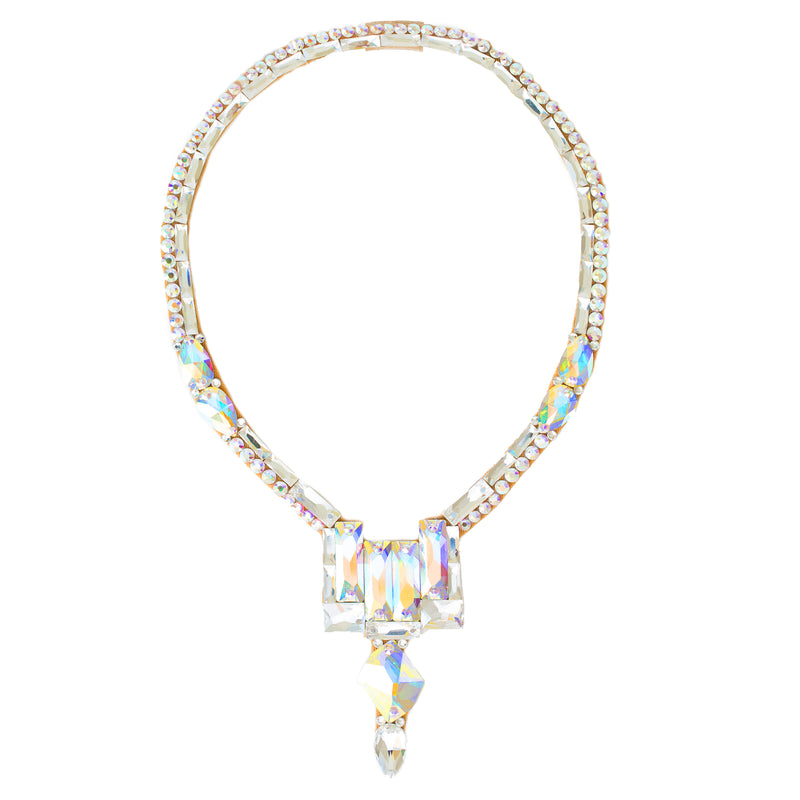 Art Deco Necklace - Crystal AB