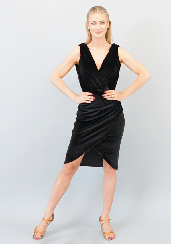 Gabriella Dress -Black Velvet