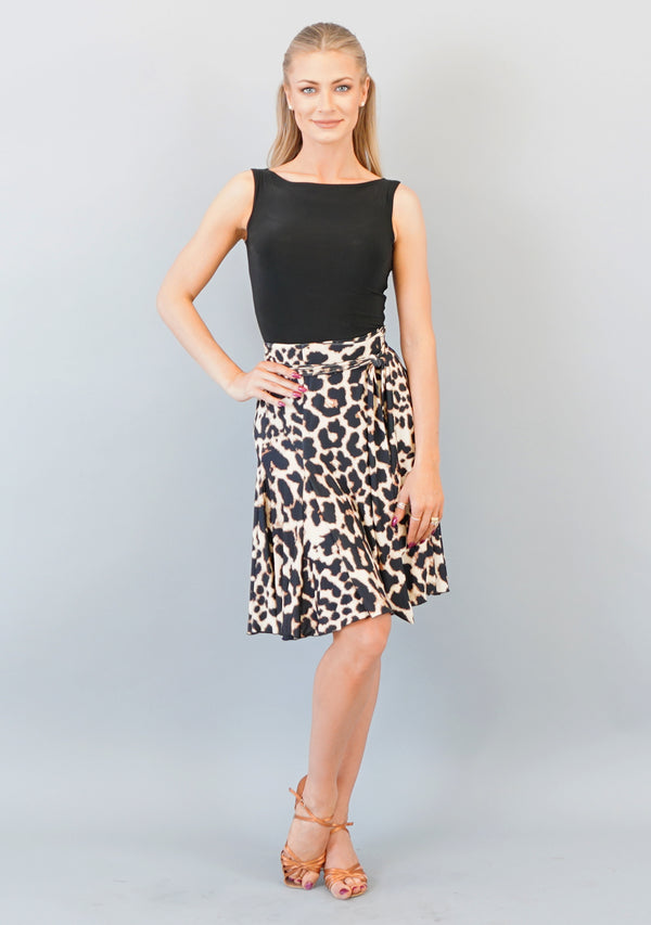 Bree Wrap Skirt - Animal