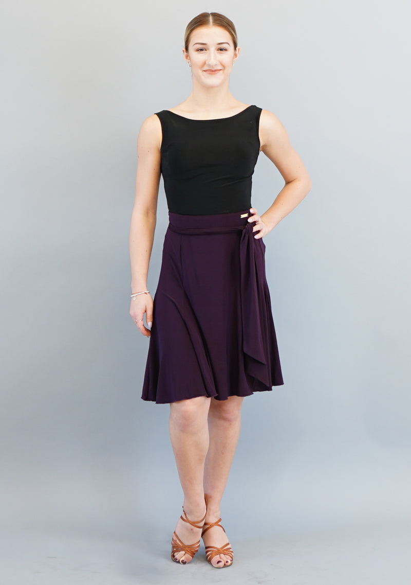 Bree Wrap Skirt- Plum