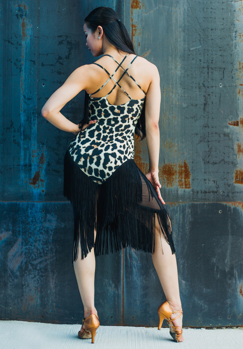 Coco Fringe Dress - Animal Print