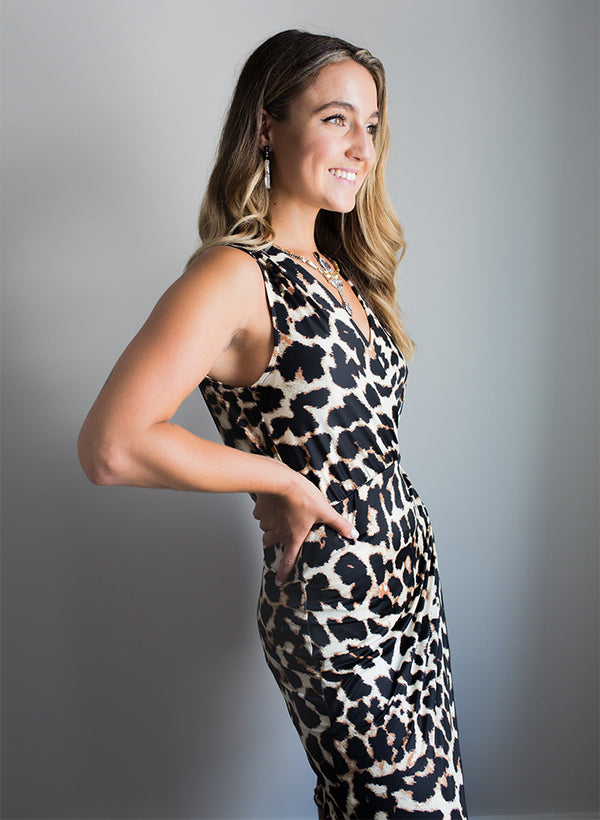 Gabriella Dress - Animal Print