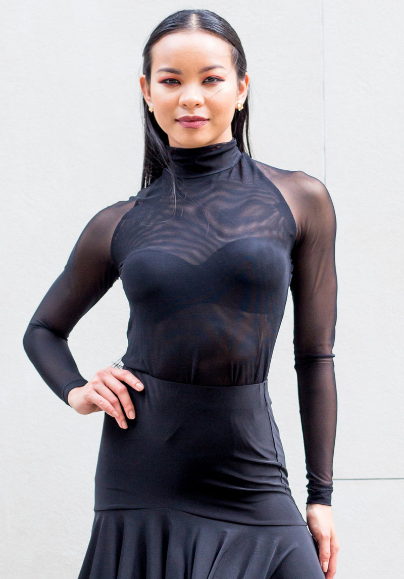 Kalen Turtleneck - Black Mesh