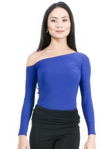 Maya Off The Shoulder Top - Blueberry , Top - Miari, Miari  - 1