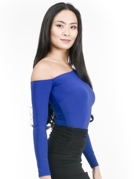 Maya Off The Shoulder Top - Blueberry , Top - Miari, Miari  - 2
