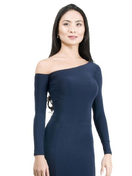 Maya off-the-shoulder Top - Navy , Top - Miari, Miari  - 1