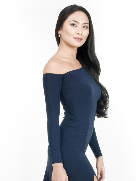 Maya off-the-shoulder Top - Navy , Top - Miari, Miari  - 4