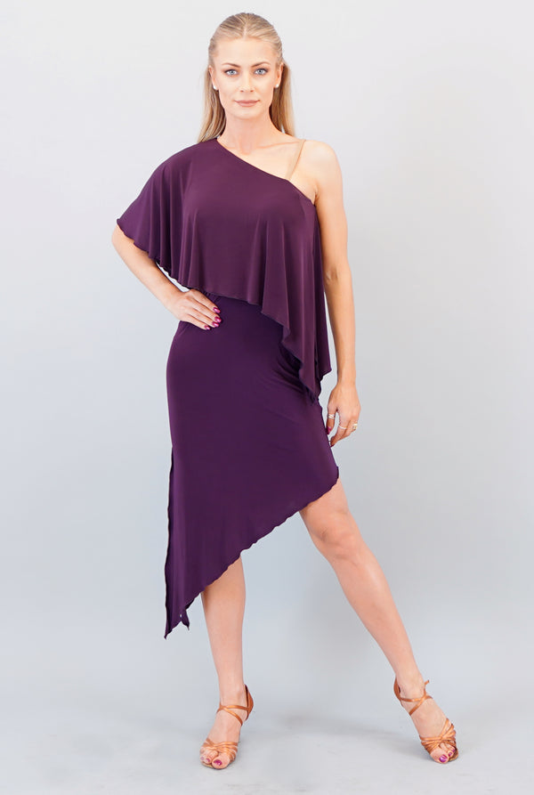 Nia Latin Dress- Plum