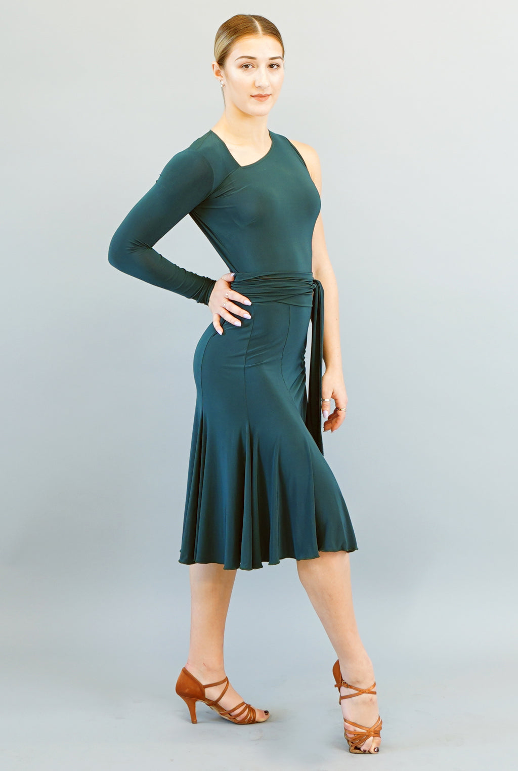 Nora Dress- Forrest Green