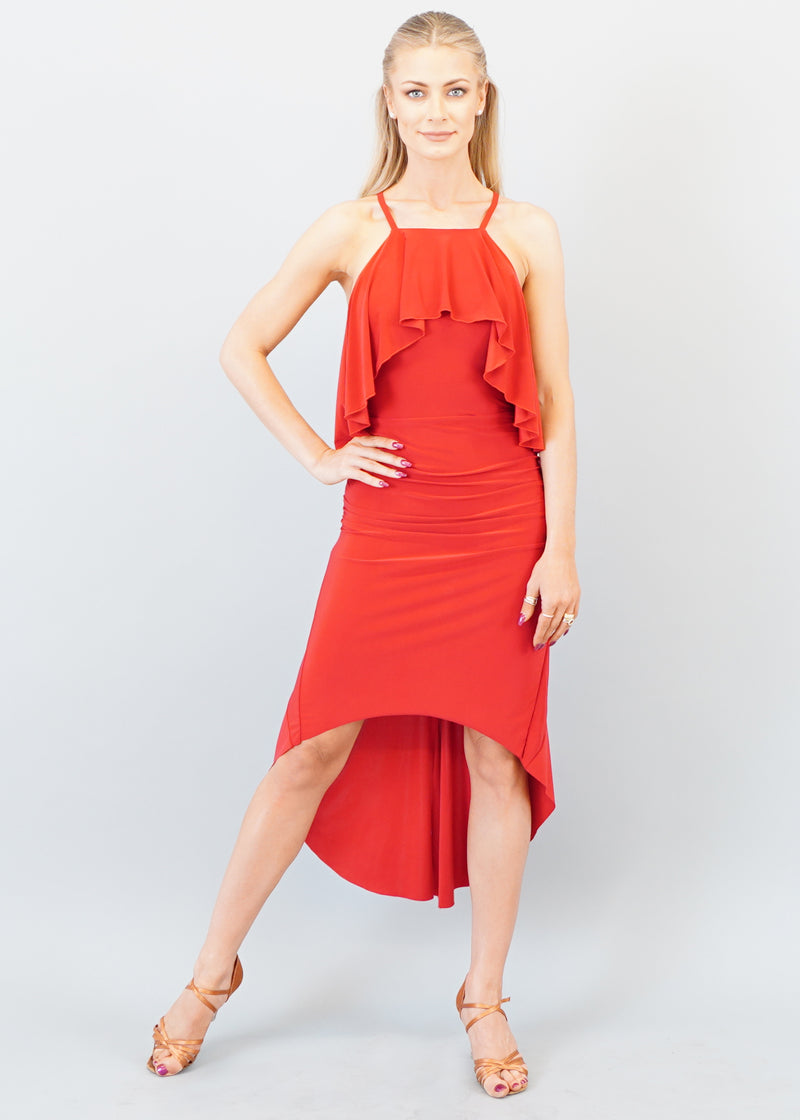Penelope Latin Dress - Red