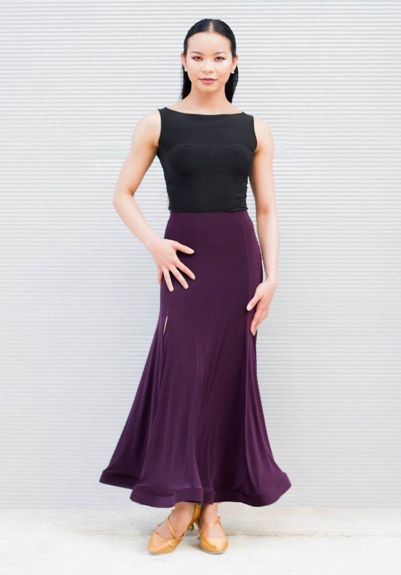 Simone Smooth Skirt - Plum