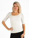 Angelique Ruffle Top - Ivory
