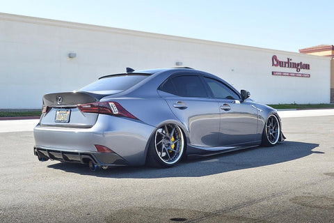 RF-style carbon fiber rear lip for 2014-up Lexus IS 250/350