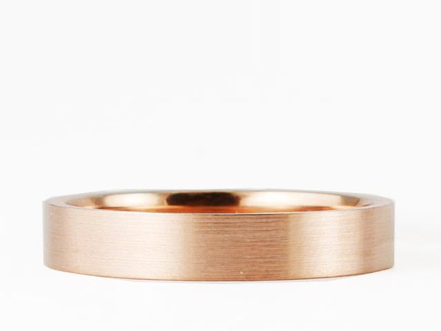 FLAT SATIN COMFORT FIT WEDDING BAND in 14K ROSE GOLD 2mm
