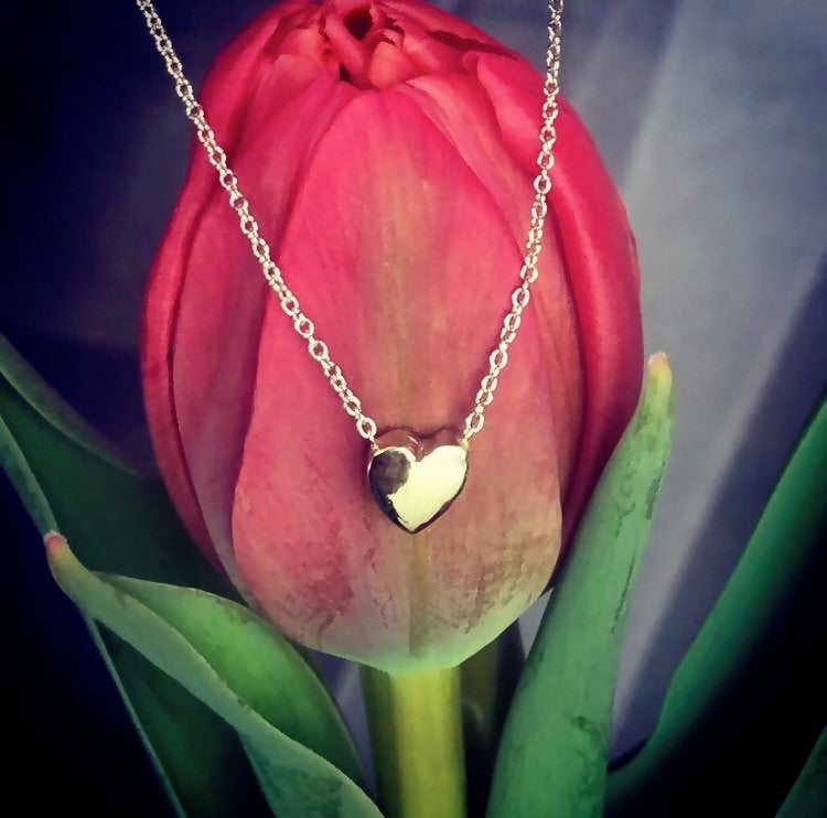 Heart Necklaces In solid 18k White Gold