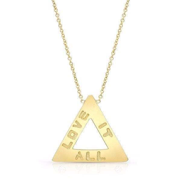 The Love It All necklaces are made by hand in solid 14k gold and Italian gold chains. Available in rose, yellow and white gold and also with diamonds and in sterling silver. Made by hand in U.S. Free shipping on all domestic orders