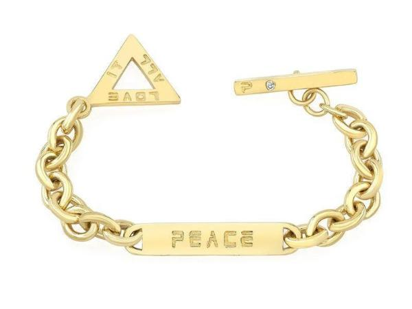 The ALEX bracelet is made by hand in solid 18K gold and 18k solid gold chains. Available in rose, yellow and white gold and also custom made with diamonds. The small tag is embellished with a diamond. Made by hand in USA. Expected shipping 7 business days.
