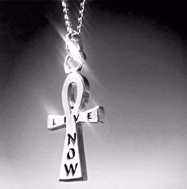 "The ""William"" -""Live Now"" Ankh is made by hand in solid sterling silver and Italian sterling silver chains. Made by hand in USA. www.paulinajewelry.com"
