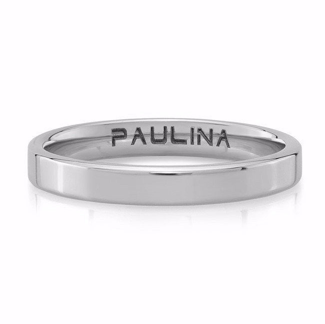 The Plain Band is made by hand in solid 18K gold. Available in white, rose and yellow gold. Made by hand in USA. Free shipping on all domestic orders. www.paulinajewelry.com