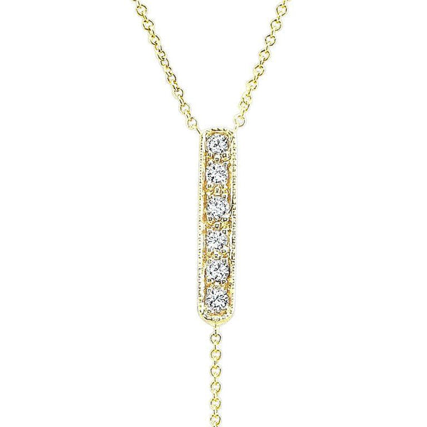 Diamond lariat made by hand in solid 18k gold, 18k Italian gold chains and diamonds. Available in solid 18k white, yellow and rose gold. Made by hand in USA. Expected shipping 5-7 business days.