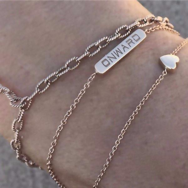 The BETH Double Sided Bracelet in Sterling Silver