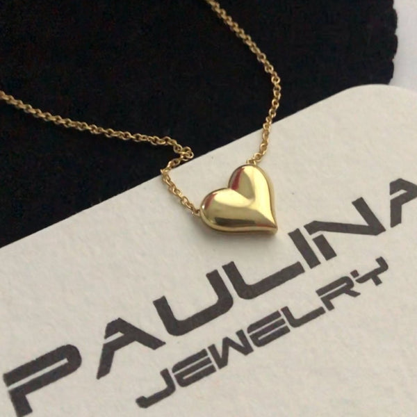 Big Heart Necklace in 18K