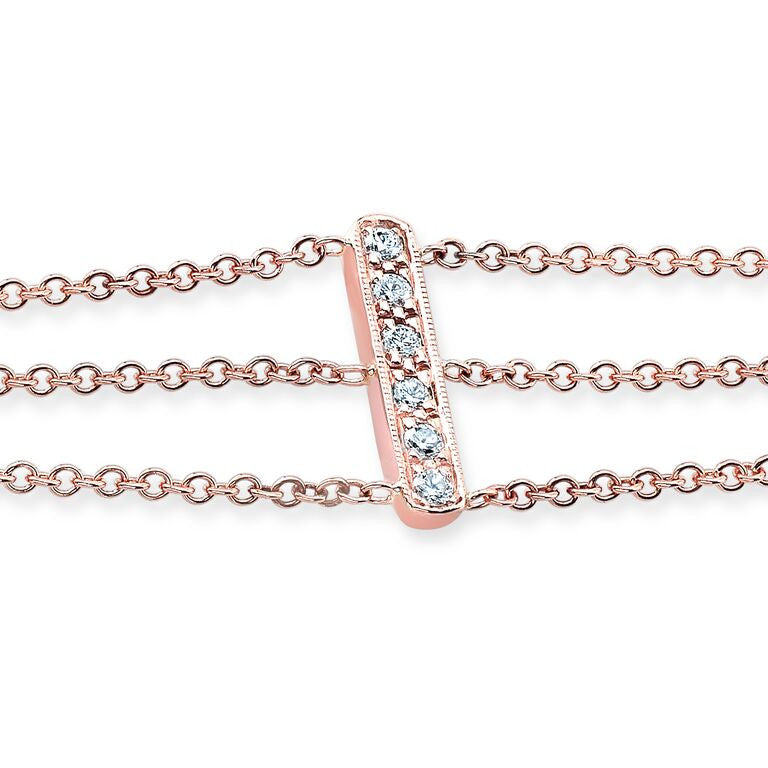 "The ""Devyn"" Bracelet In Rose Gold And Diamonds"