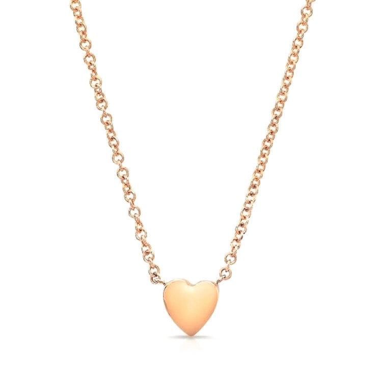 Heart Necklaces In Rose Gold