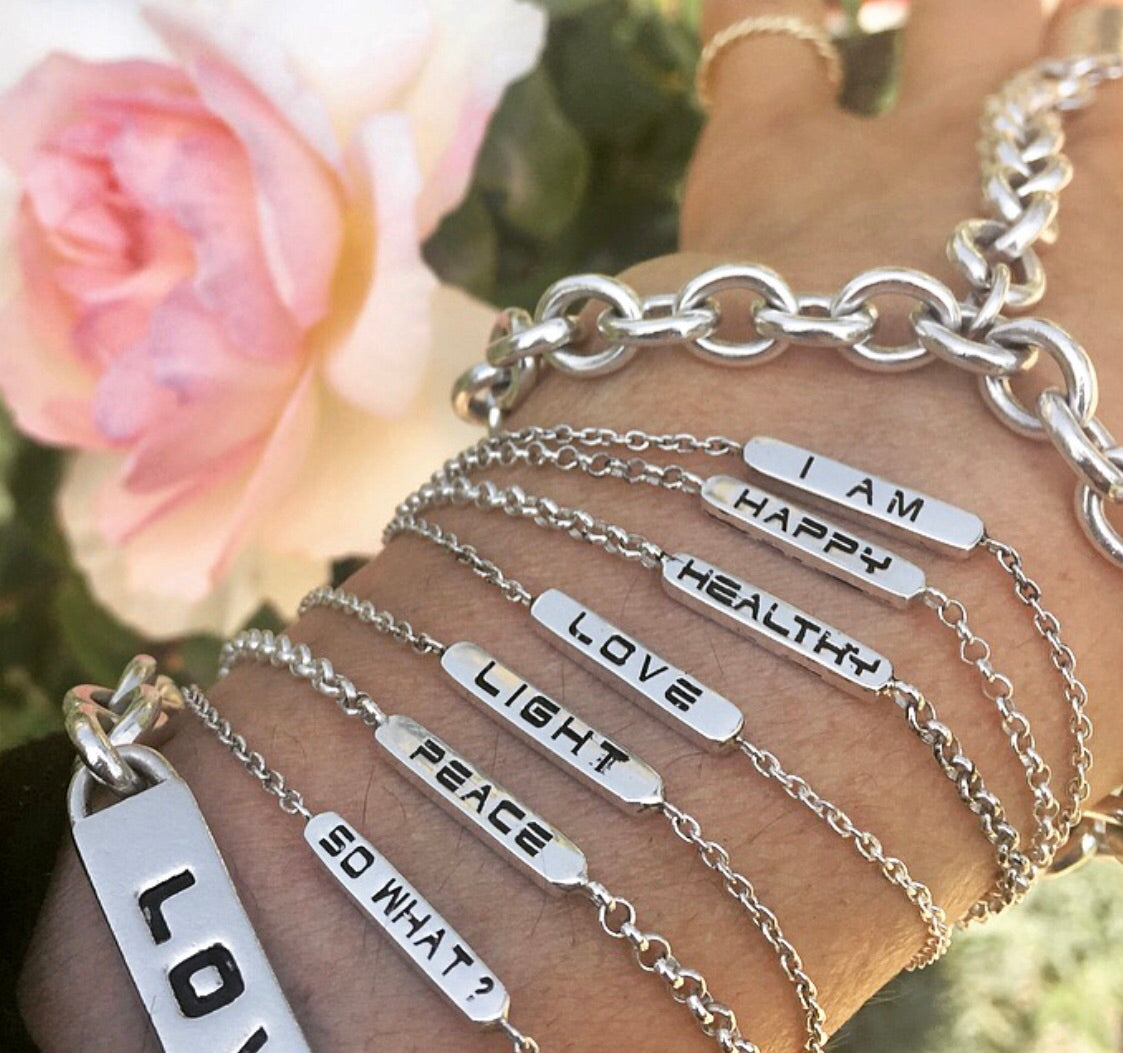 The BETH Double Sided Bracelet in Silver