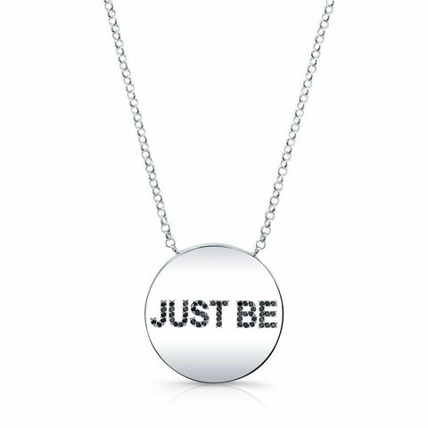 "The ANGELA ""Just Be"" Necklace In Gold"