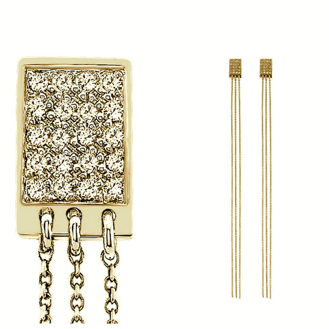 The Justine Diamond Earrings In Yellow Gold