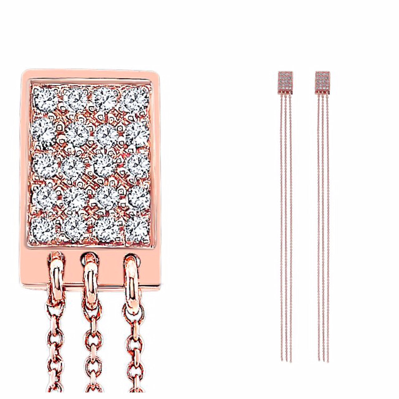 The Justine Diamond Earrings In Rose Gold