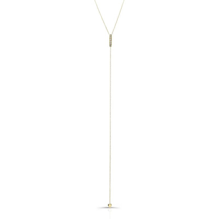 The Carrie Lariat In Yellow Gold And Diamonds