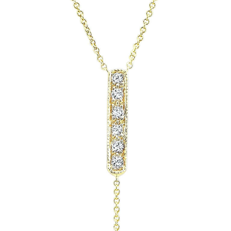 The Carrie Lariat In 18k Yellow Gold And Diamonds