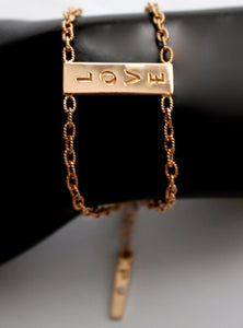 "The ""2 Chains"" Bracelet In Gold"