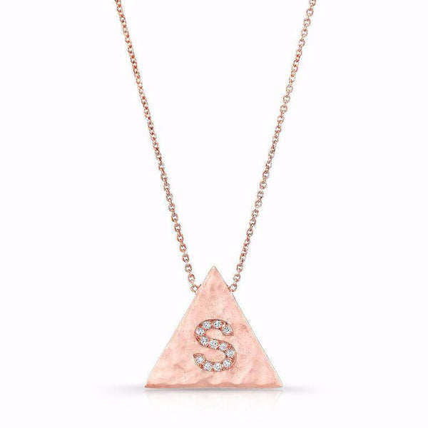 Initial Necklaces in solid 18K and diamonds