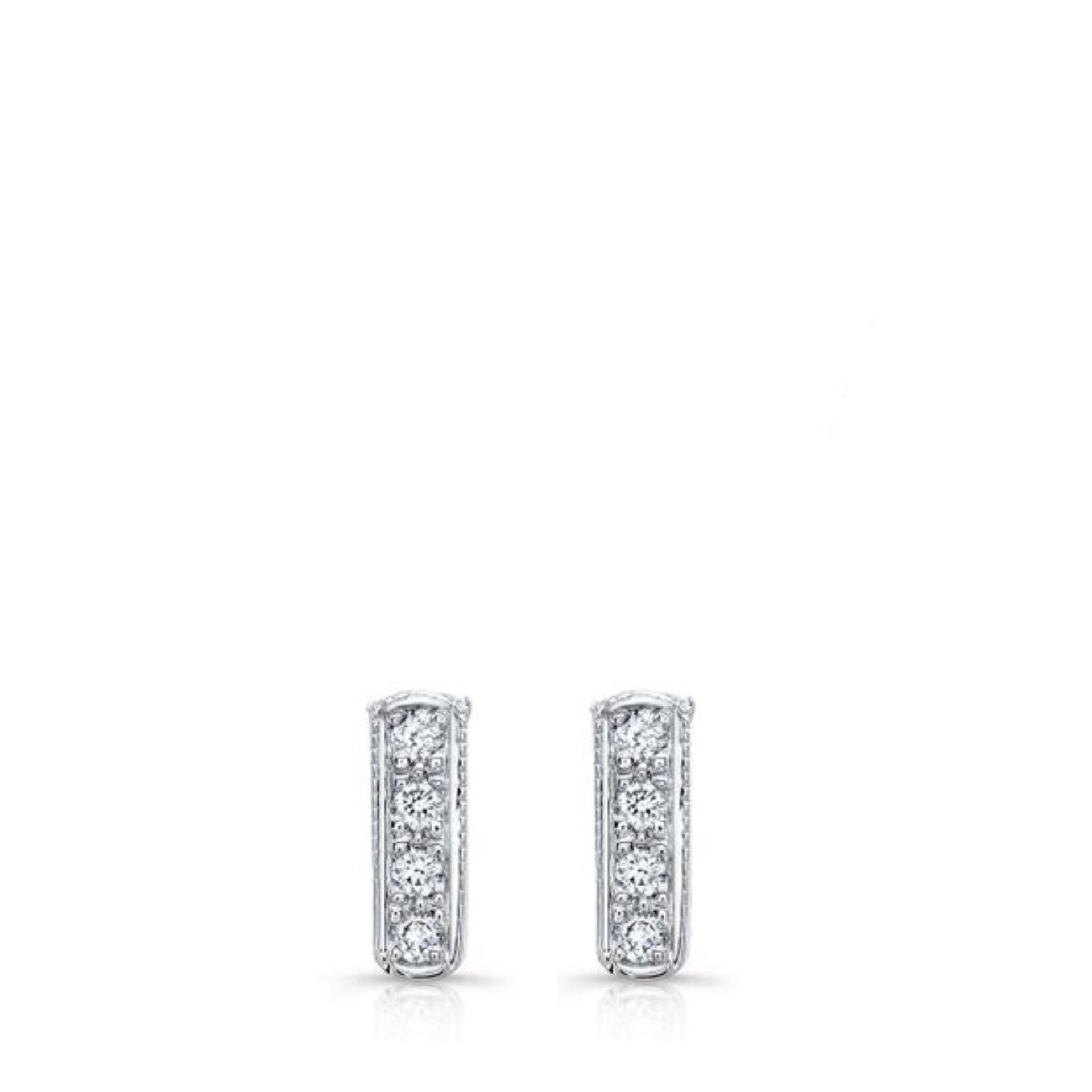 MINI BAR EARRINGS WHITE GOLD