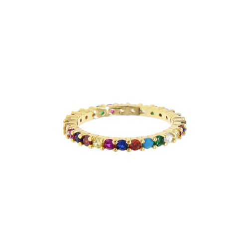 PRINCESS RAINBOW RING GOLD SMALL