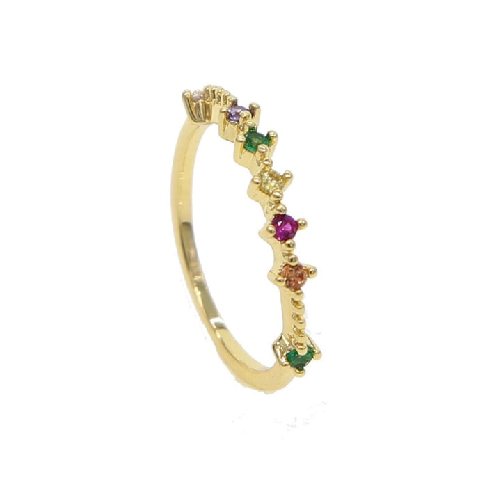 PINK GREEN RING GOLD