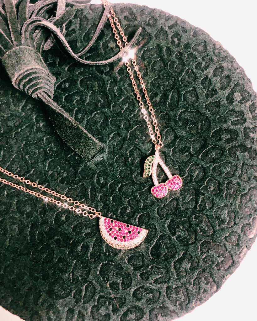WATERMELON ROSE GOLD NECKLACE