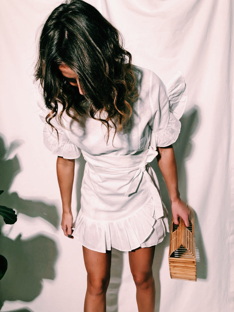 When it all started DRESS // white