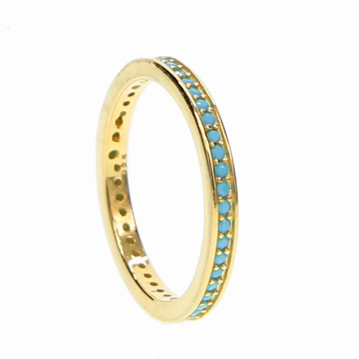 TURQUOISE ETERNITY RING GOLD