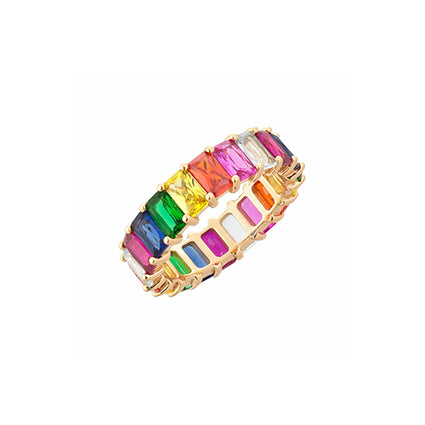 RAINBOW ETERNITY RING GOLD