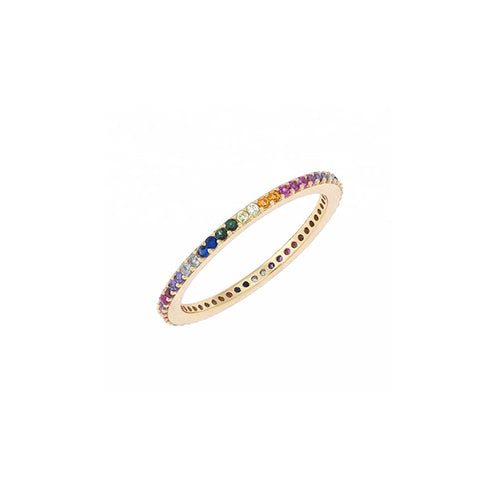 PRINCESS RAINBOW RING GOLD MINI